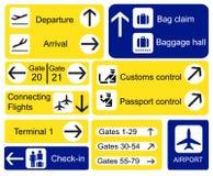 De tekens van de luchthaven stock illustratie