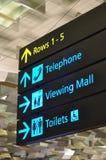 De tekens van de luchthaven Royalty-vrije Stock Fotografie