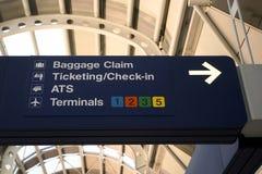 De tekens van de luchthaven Stock Afbeeldingen