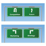 De tekens van de marketing vector illustratie