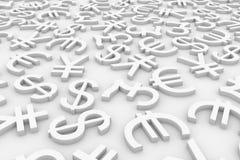De tekens van de munt. Stock Foto's