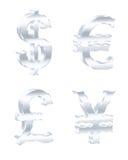 De tekens van de munt Vector illustratie Stock Foto