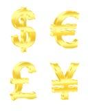 De tekens van de munt Vector illustratie Stock Afbeeldingen