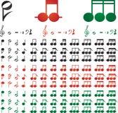 De tekens van de muziek Stock Afbeelding