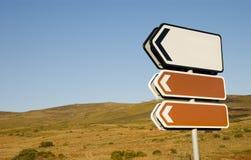 De tekens van de richting stock afbeelding