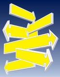 De tekens van de richting Stock Afbeeldingen