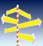 De tekens van de richting Stock Foto