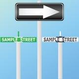 De tekens van de straat vector illustratie