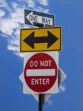 De tekens van de straat Stock Foto