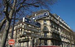 De tekens van de toerist in Parijs. Stock Afbeelding