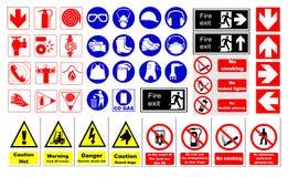 Veiligheidstekens Stock Afbeeldingen