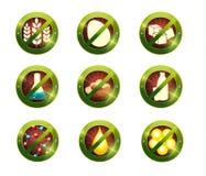 De tekens van de voedselonverdraagzaamheid Stock Afbeeldingen