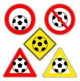 De tekens van de voetbalbal Stock Fotografie