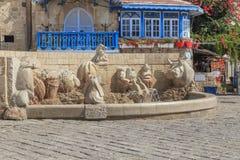 De Tekens van de fonteindierenriem, Jaffa, Tel Aviv royalty-vrije stock afbeeldingen