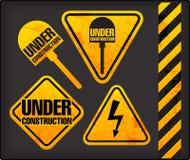 De tekens van Grunge met de verlichting en de spade vector illustratie