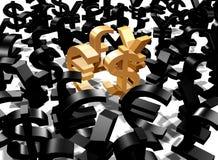 De tekens van het geld Stock Afbeelding