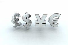 De tekens van het geld Royalty-vrije Stock Afbeeldingen