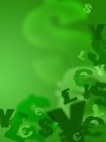 De tekens van het geld Stock Fotografie