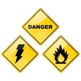 De tekens van het gevaar vector illustratie