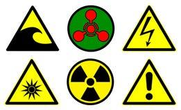 De tekens van het gevaar plaatsen 2 vector illustratie