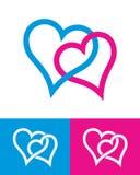 De tekens van het hart Royalty-vrije Stock Foto's