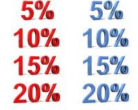 De tekens van het percentage Stock Illustratie