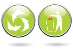 De tekens van het recycling Stock Afbeeldingen