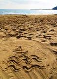 De tekens van het strand Stock Afbeelding
