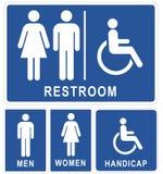De tekens van het toilet Stock Foto's