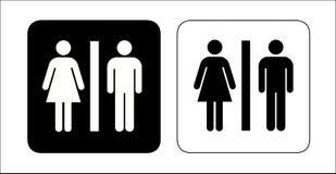 De tekens van het toilet Stock Fotografie