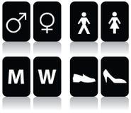 De Tekens van het toilet Royalty-vrije Stock Foto's