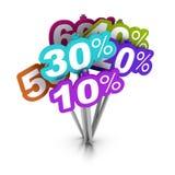 De tekens van percenten Royalty-vrije Stock Afbeelding