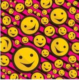 De tekens van Smiley op roze achtergrond Royalty-vrije Stock Foto