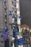 De tekens van de straat in de Stad van New York royalty-vrije stock afbeeldingen