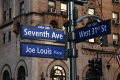 De tekens van de straat in de Stad van New York royalty-vrije stock afbeelding