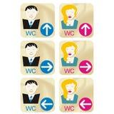De tekens van WC stock illustratie