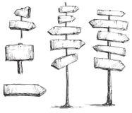 De tekens vectortekening van de pijl Royalty-vrije Stock Afbeeldingen