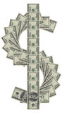 De tekensgeld van de dollar Royalty-vrije Stock Afbeeldingen