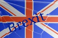 De tekst Brexit op het gebroken glas Het concept een Britse uitgang van de Europese Unie vector illustratie
