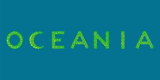 De tekst tropisch eiland van Oceanië Stock Foto
