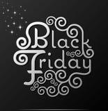 De tekst Uitstekende Kalligrafie van Black Friday het vector Van letters voorzien royalty-vrije illustratie