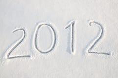 de tekst van 2012 op sneeuw Stock Afbeeldingen