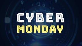 De tekst van de Cybermaandag tegen digitaal oog royalty-vrije illustratie
