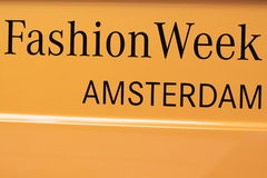 De tekst van de de manierweek van Amsterdam Stock Foto's
