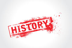 De tekst van de geschiedenis grunge royalty-vrije illustratie