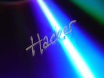 De tekst van de hakker op CD    Stock Foto's