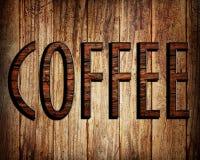 De tekst van de koffie stock afbeeldingen