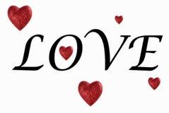 De tekst van de liefde Stock Fotografie