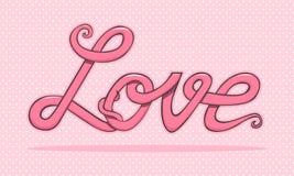 De tekst van de liefde   Royalty-vrije Stock Afbeelding