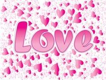 De tekst van de liefde royalty-vrije illustratie